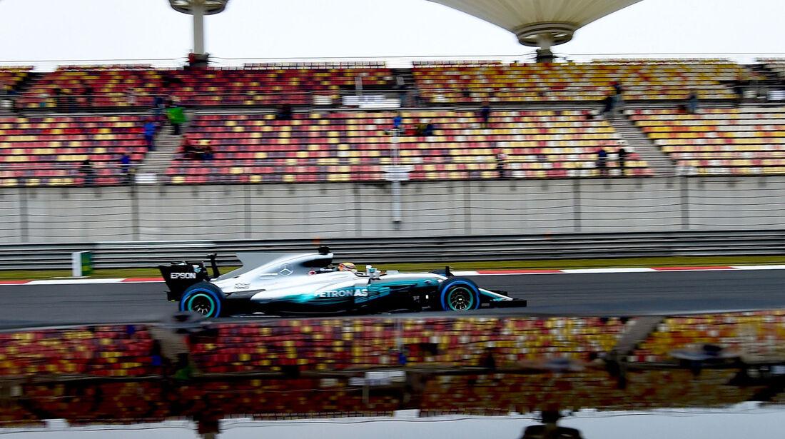 Lewis Hamilton - Mercedes - Formel 1 - GP China - Shanghai - Freitag - 7.4.2017