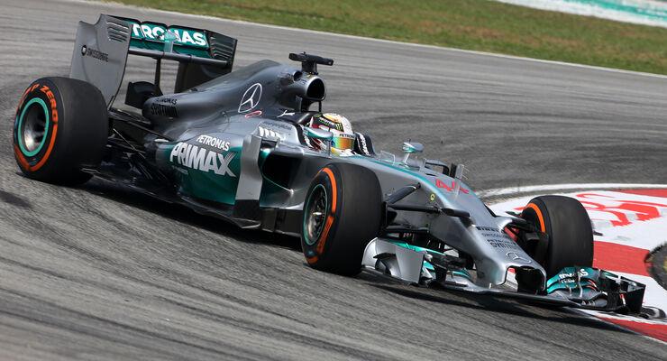 Lewis Hamilton - Mercedes - Formel 1 - GP Malaysia - Sepang - 28. März 2014