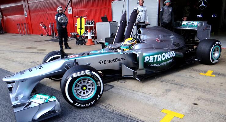 Lewis Hamilton - Mercedes - Formel 1 - Test - Barcelona - 2. März 2013