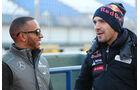 Lewis Hamilton, Mercedes GP, Jean-Eric Vergne, Torro Rosso, Formel 1-Test, Jerez, 5.2.2013