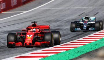 Lewis Hamilton - Mercedes - Sebastian Vettel - Ferrari - Formel 1 - GP Österreich - 1. Juli 2018