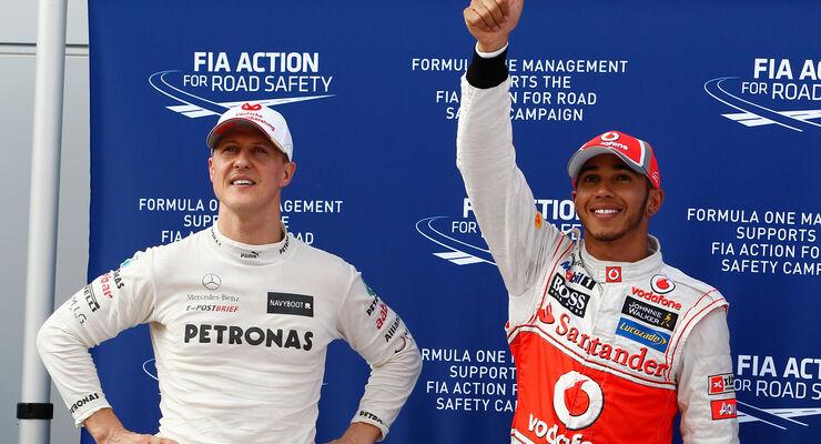 Lewis Hamilton & Michael Schumacher - GP Malaysia 2012