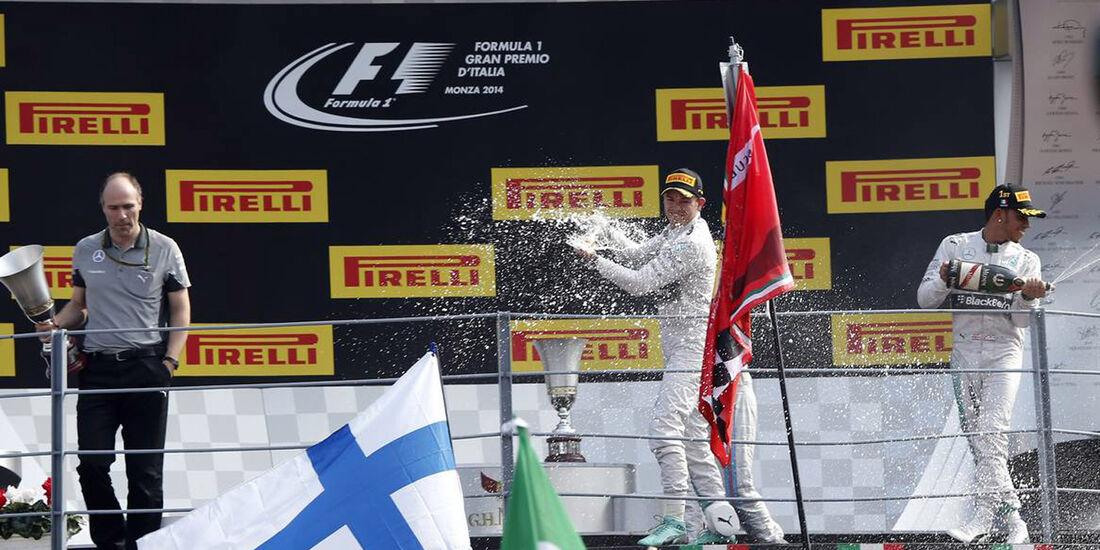 Lewis Hamilton - Nico Rosberg - Felipe Massa  - Formel 1 - GP Italien - 7. September 2015