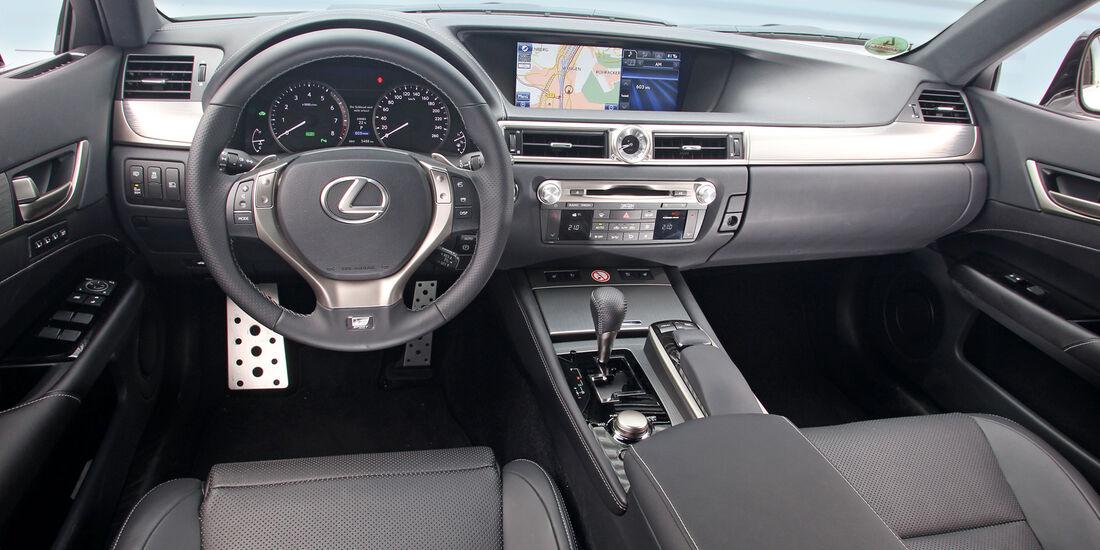 Lexus GS 450h F-Sport, Cockpit, Lenkrad