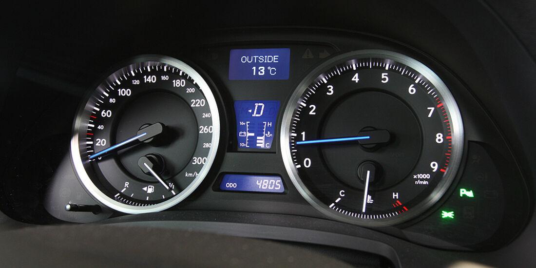 Lexus IS-F, Sportwagen, Cockpit, Instrumente, Tacho