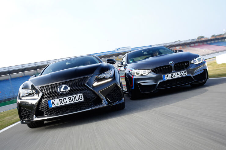 Lexus RC F, BMW M4 Performance, Frontansicht