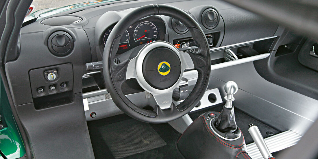 Lotus Exige S, Cockpit, Lenkrad