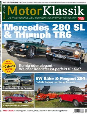 MKL Motor Klassik Heft 05/2018 Cover