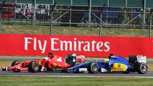 Marcus Ericsson - Sauber - Sebastian Vettel - Ferrari - GP England - Silverstone - Rennen - Sonntag - 5.7.2015