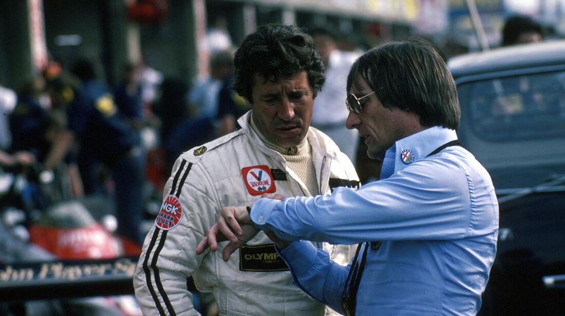 Mario Andretti - Bernie Ecclestone - GP Italien 1978 - Monza