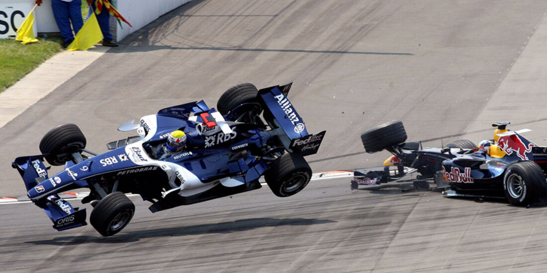 Mark Webber 2006 GP USA Crash