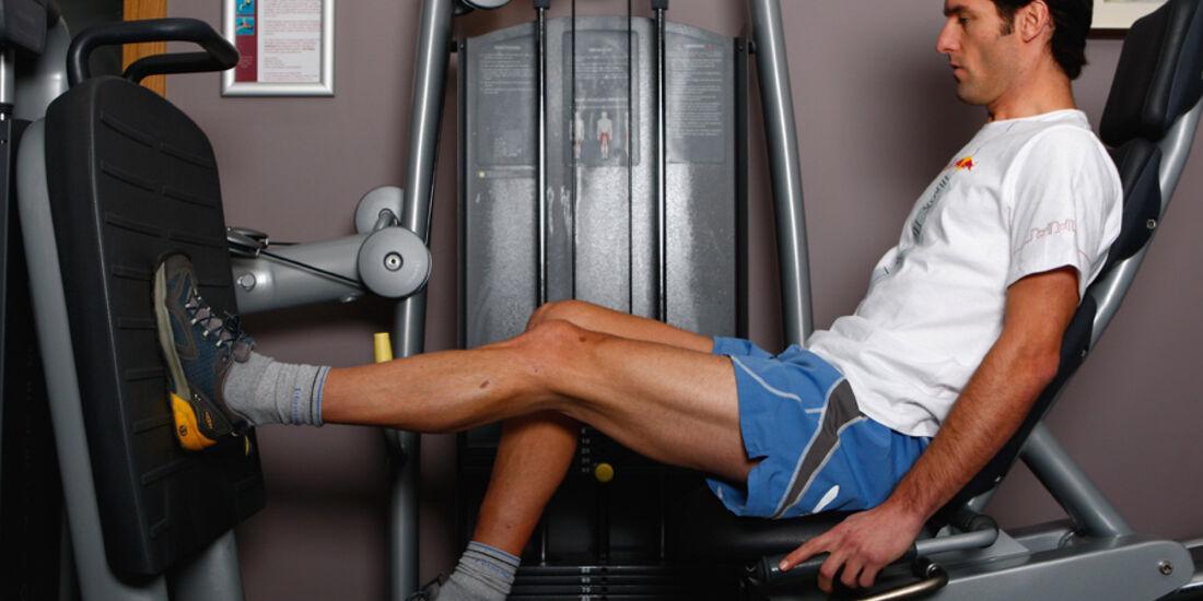 Mark Webber 2008 Reha-Programm Aufbau Verletzung