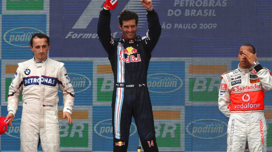 Mark Webber 2009 GP Brasilien