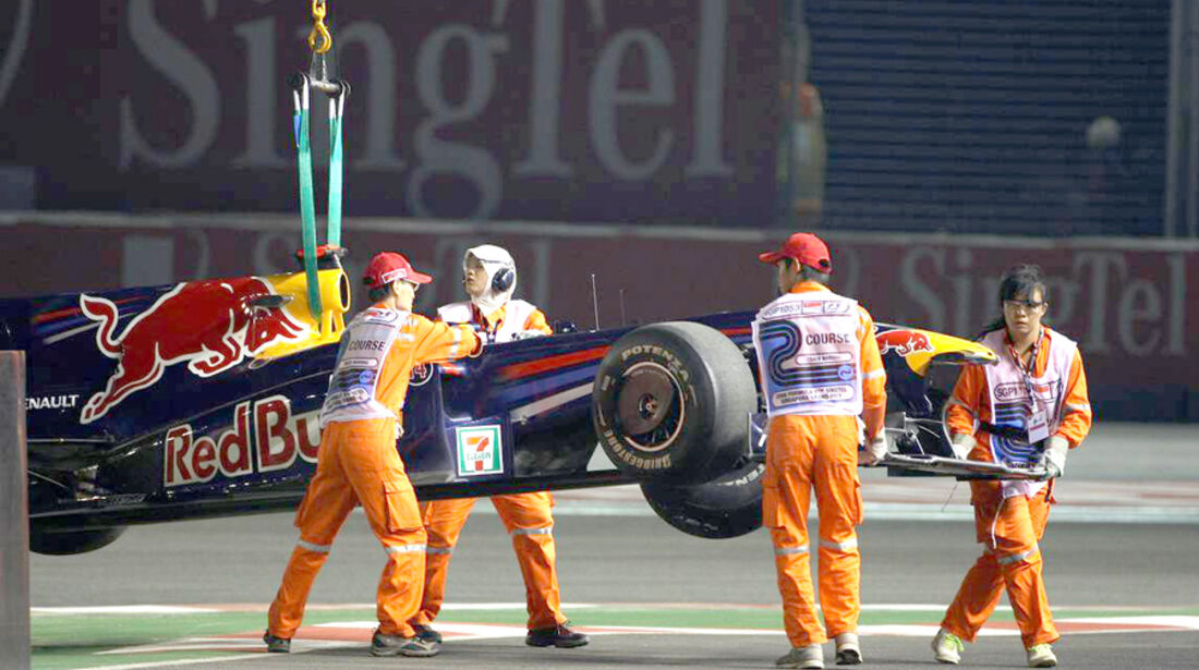 Mark Webber 2009 GP Singapur