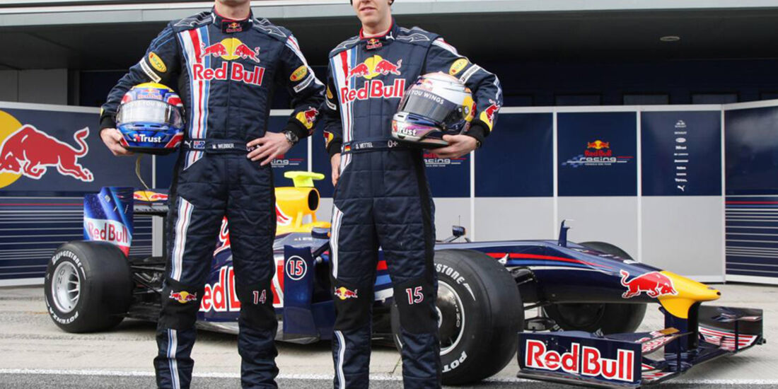 Mark Webber 2009 Vettel Red Bull Präsentation
