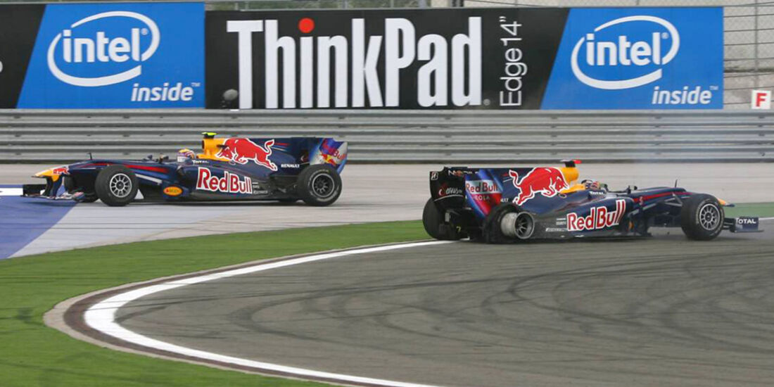 Mark Webber 2010 GP Türkei Crash Vettel