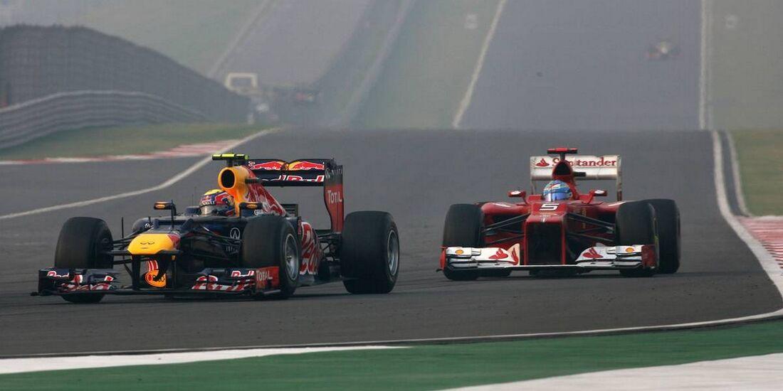 Mark Webber - Fernando Alonso - Formel 1 - GP Indien - 28. Oktober 2012