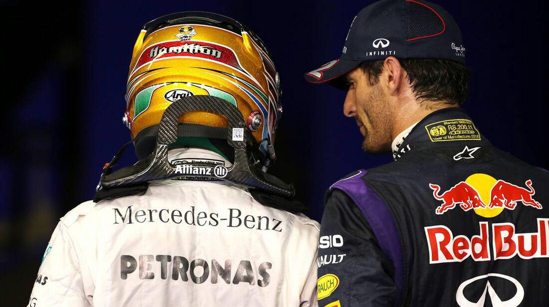 Mark Webber - Lewis Hamilton - Formel 1 - GP Abu Dhabi - 02. November 2013