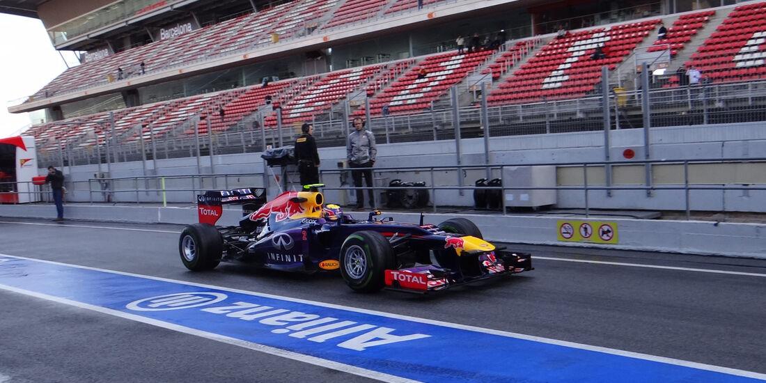 Mark Webber - Red Bull - Formel 1 - Test - Barcelona - 28. Februar 2013
