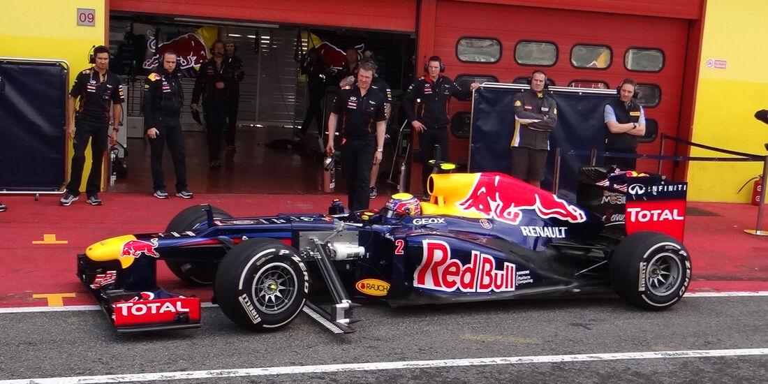 Mark Webber - Red Bull - Formel 1-Test - Mugello - 2. Mai 2012