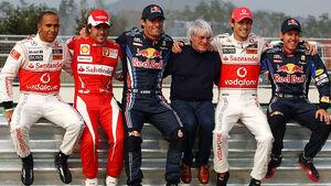 Mark Webber Sebastian Vettel Fernando Alonso Lewis Hamilton Jenson Button