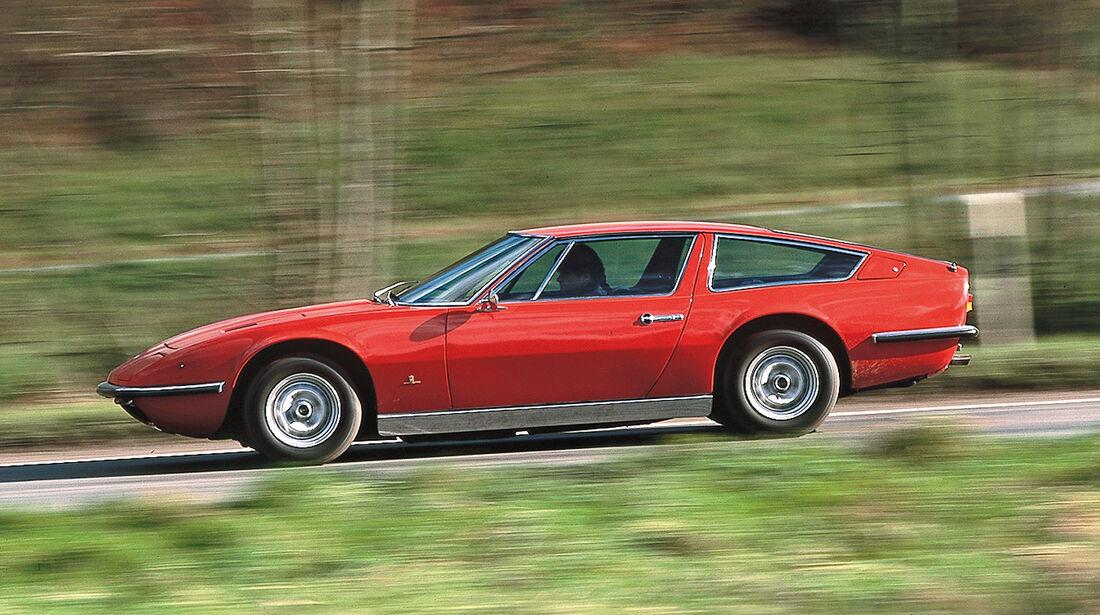 Maserati Indy, Seitenansicht