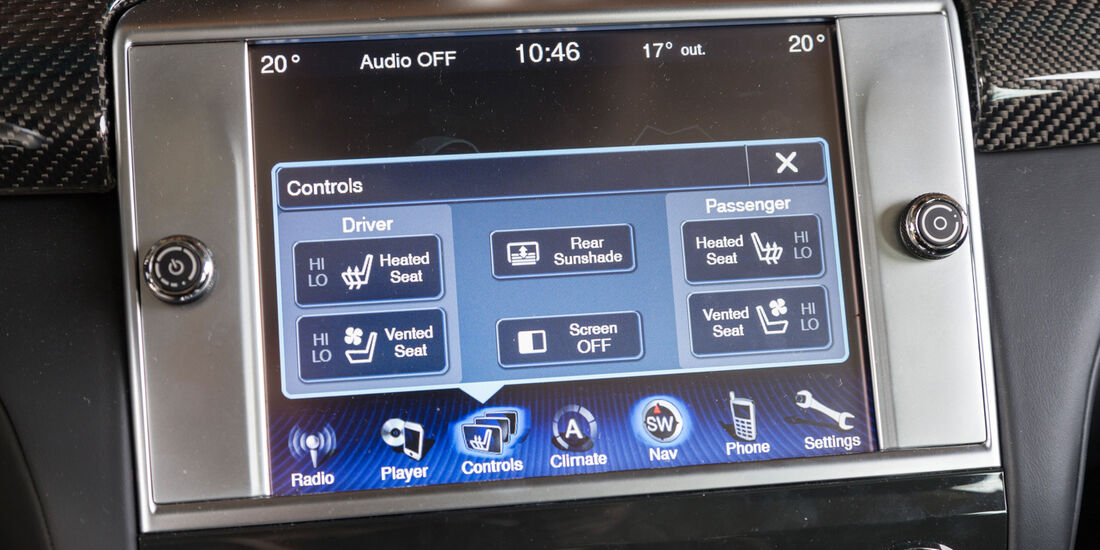 Maserati Quattroporte A Q4, Display, Bordcomputer