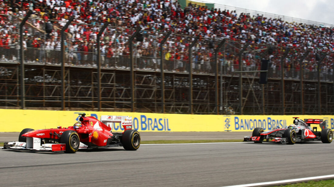 Massa & Hamilton GP Brasilien 2011