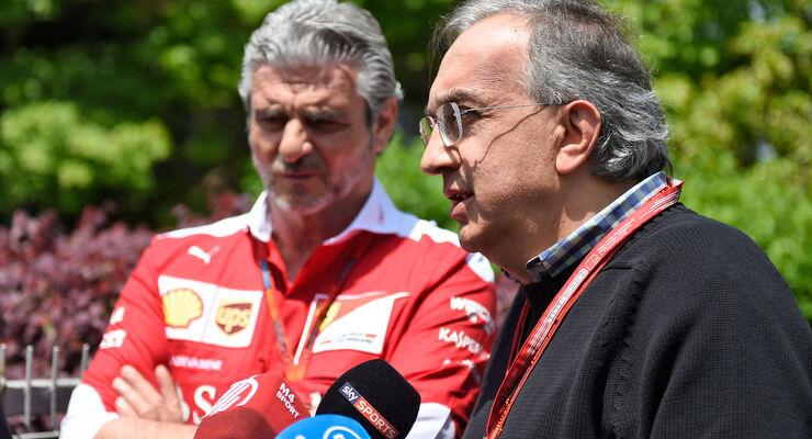 Maurizio Arrivabene - Sergio Marchionne - Ferrari - GP China 2016
