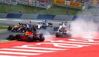 Max Verstappen - Fernando Alonso - Daniil Kvyat - Start - GP Österreich 2017 - Spielberg - Rennen