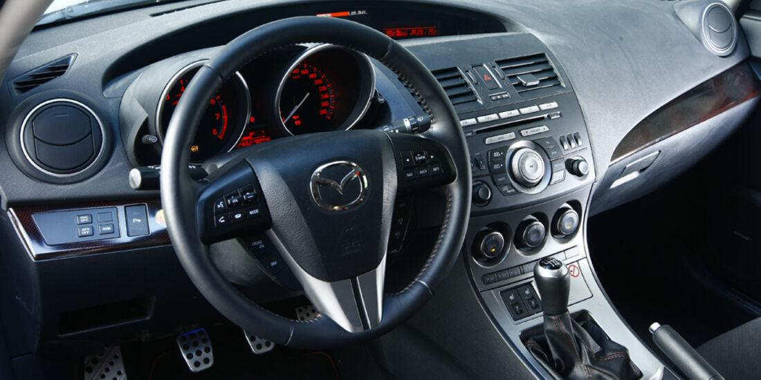 Mazda 3 MPS, Detail, Innenraum, Lenkrad