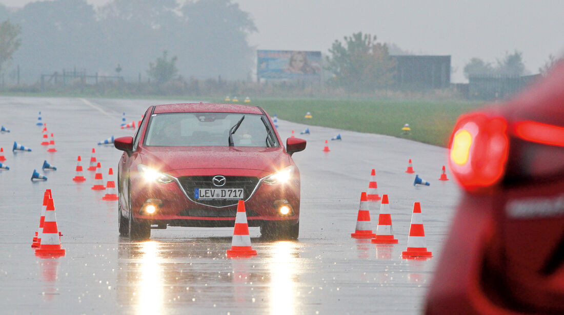 Mazda 3, Parcours, Teststrecke