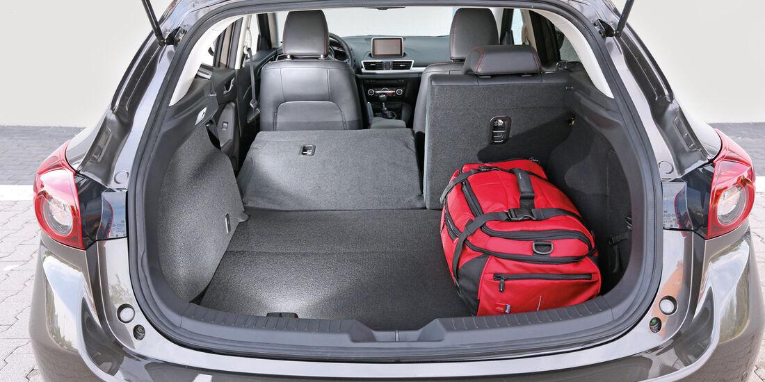 Mazda 3 Skyactiv G 165, Kofferraum