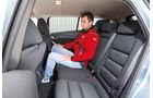 Mazda 6 2.2 D, Rücksitz, Beinfreiheit
