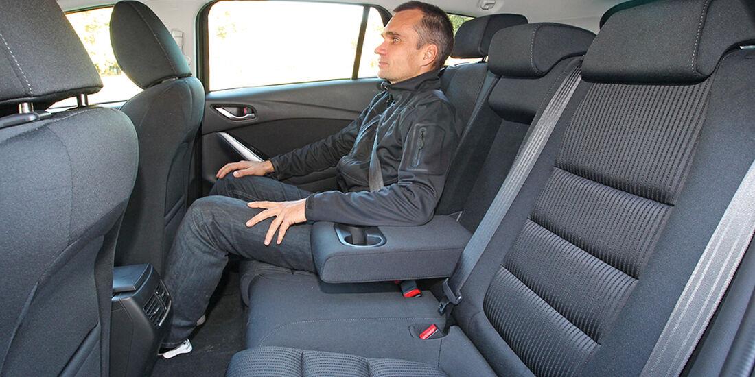 Mazda 6, Rückbank, Beinfreiheit