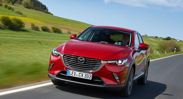 mazda cx-3 (2017) im fahrbericht: was bringt das facelift? - auto