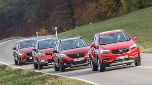 Mazda CX-3 Skyactiv-D 105, Opel Mokka X 1.6 CDTI, Peugeot 2008 BlueHDi 120, Renault Captur dCi 110