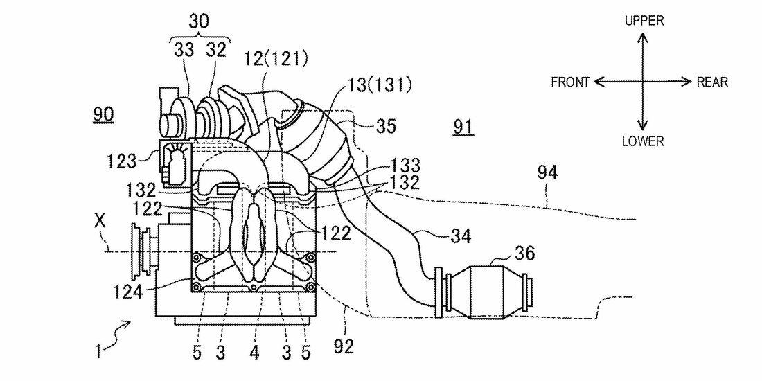 Mazda Wankelmotor Patentamtsbilder
