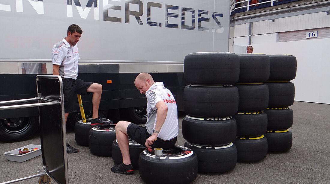 McLaren - Formel 1 - GP Ungarn - 25. Juli 2013
