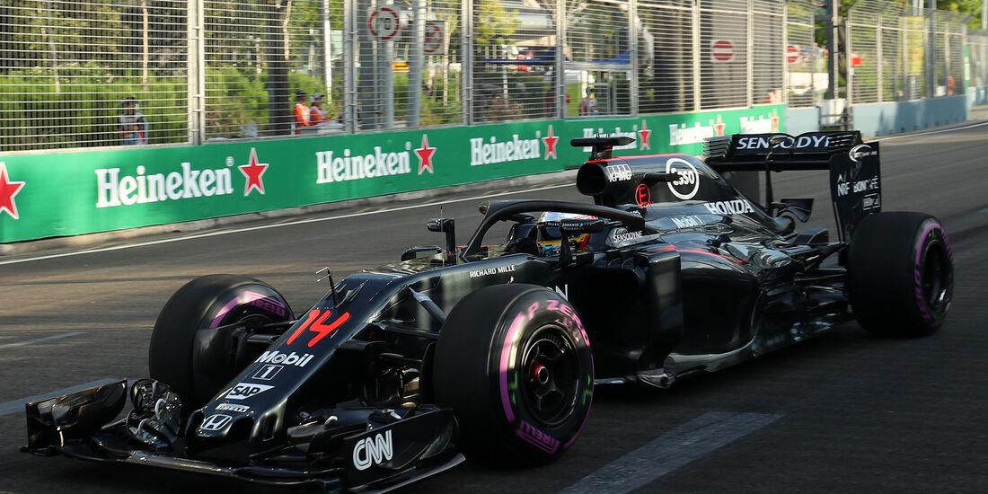McLaren - Halo-Test - Formel 1 - 2016