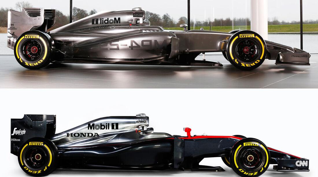 McLaren Vergleich MP4-30 vs. MP4-29