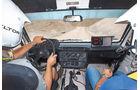 Mercedes 280 GE Dakar, Cockpit, Fahrersicht