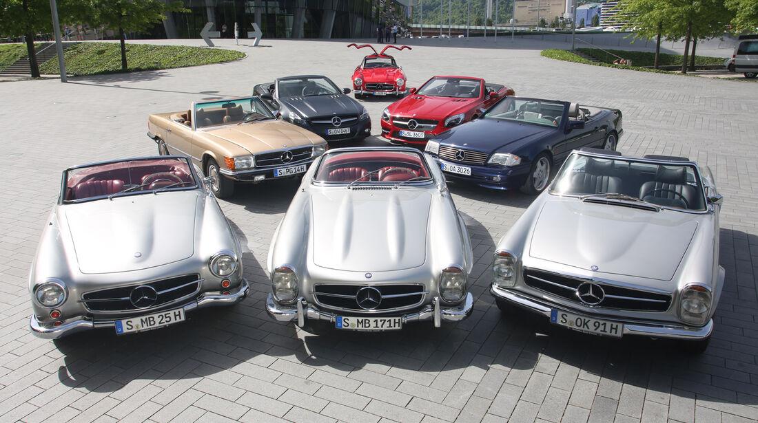 Mercedes 300 SL, Modelle, Gruppenbild