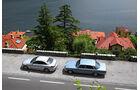 Mercedes 450 SEL 6.9, Mercedes C 250 Bluetec, Seitenansicht
