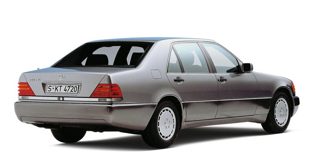 Mercedes 500 SEL, Heckansicht