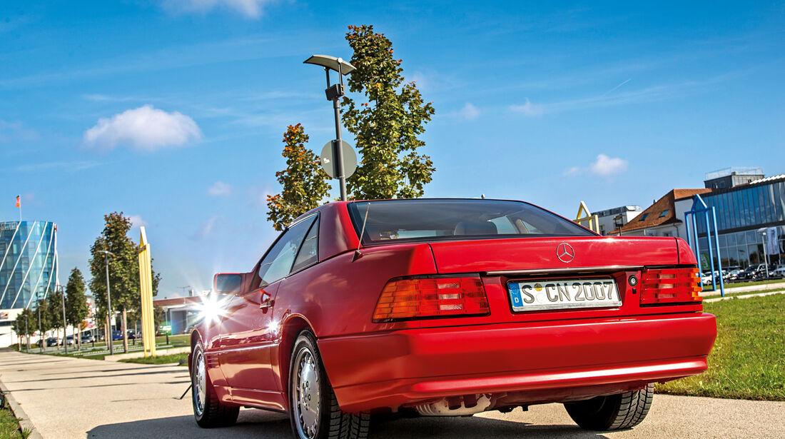 Mercedes 500 SL (R129), Heckansicht