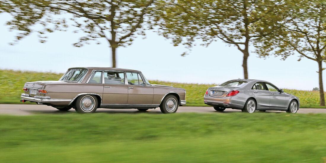 Mercedes 600, S 500, Seitenansicht