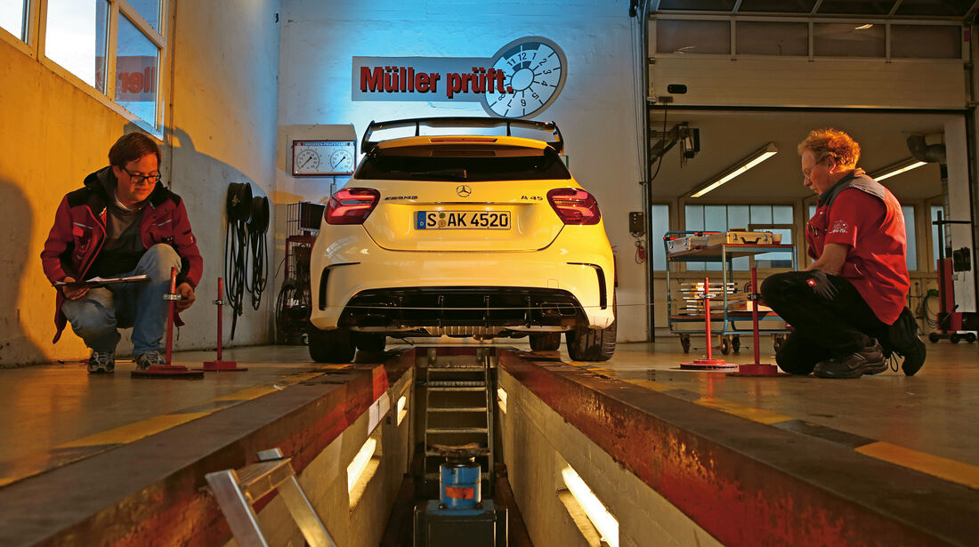 Mercedes-AMG A 45 4Matic, Leistungstest