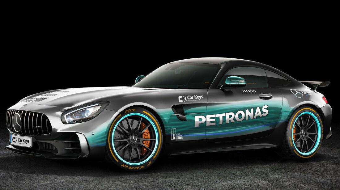 Mercedes AMG GT - Mercedes W08 - Lackierung
