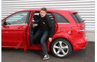 Mercedes B-Klasse, Rücksitz, Aussteigen